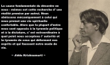 Krishnamurti, la fuite devant ce qui est. Un débat à partir d'un texte.