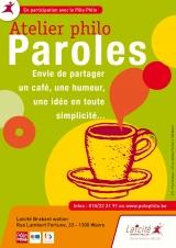 Café philo Paroles - Perwez, Jodoigne, Genappe